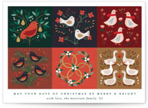 This is a white non photo holiday card by Erica Krystek called Christmas Countdown with standard printing on signature in standard.