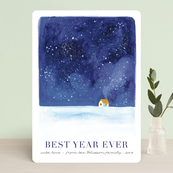 """""""Christmas eve"""" - Holiday Cards in Night Sky by Alexandra Dzh."""