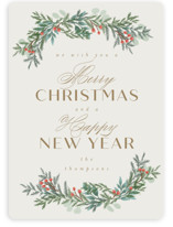 This is a brown non photo holiday card by Ashlee Townsend called Merry and Happy with standard printing on signature in standard.