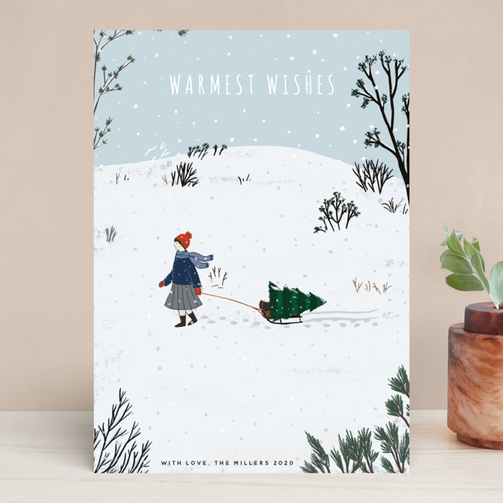 """""""Warmest Holiday Wishes"""" - Holiday Cards in Frost by Nikita Jariwala."""