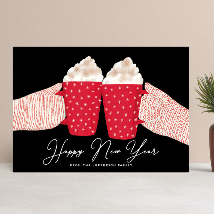 """warmest holidays"" - Holiday Cards in Candy Cane by Alexandra Dzh."