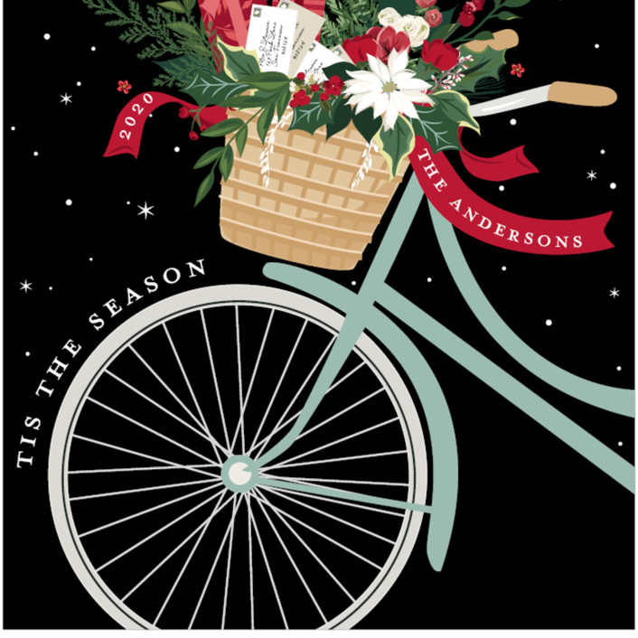 """Holiday Delivery"" - Holiday Cards in Mint by Susan Moyal."