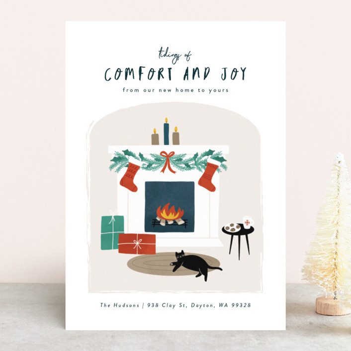 """""""Cool Cat"""" - Holiday Cards in Ornaments by Jana Volfova."""