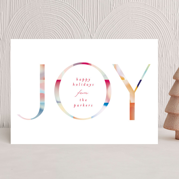 """Joyful Color Block"" - Modern Holiday Cards in Festive by Phrosne Ras."