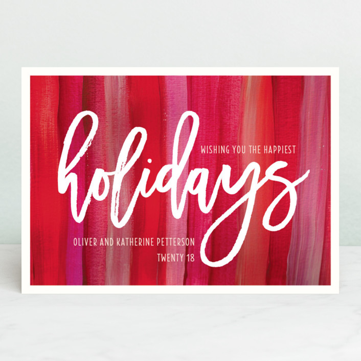 """Artistically Festive"" - Holiday Cards in Ruby by Kaydi Bishop."
