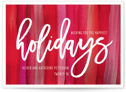 Artistically Festive Holiday Non-Photo Cards