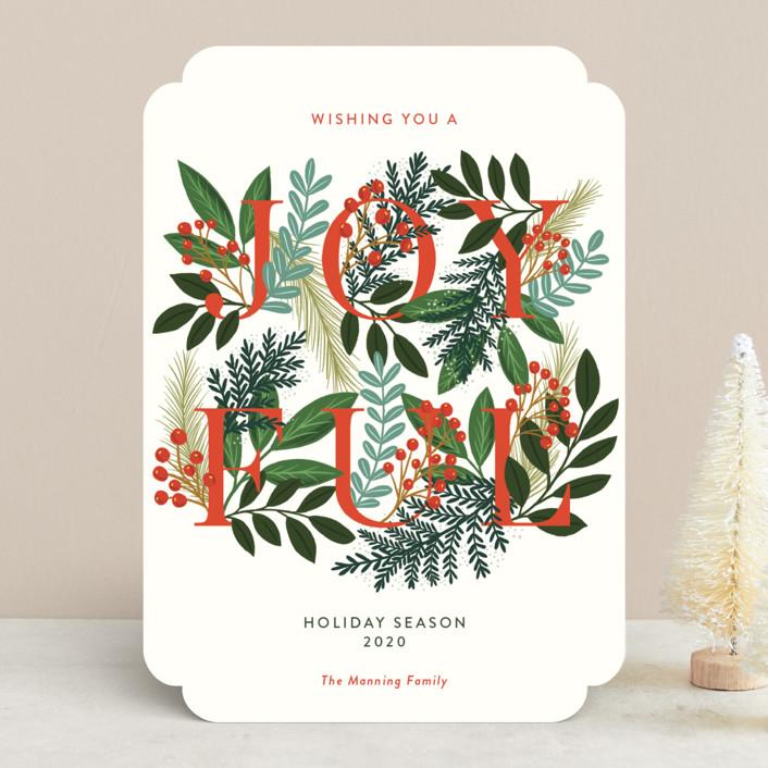"""A Joyful Holiday Season"" - Holiday Cards in Snow by Yaling Hou Suzuki."