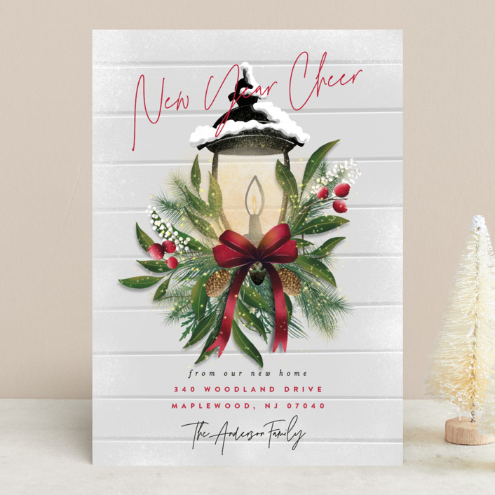 """""""Brightest Wishes"""" - Holiday Cards in Poinsettia by Ana Sharpe."""