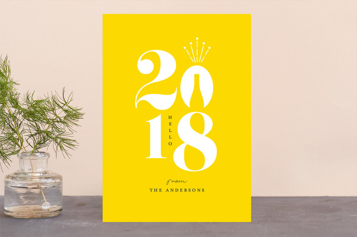 """Celebrate a new year"" - Holiday Cards in Mimosa by iamtanya."