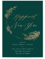 This is a green non photo holiday card by Robert and Stella called Welcome Wreath with standard printing on signature in standard.