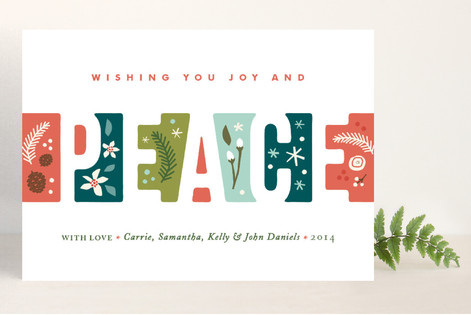 Illustrated Peace Holiday Cards