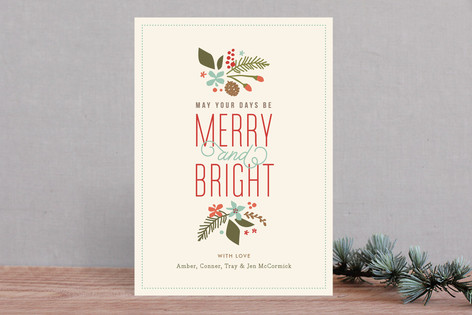 Brightly Merry Holiday Cards