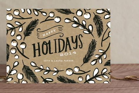 Pine and Berries Holiday Cards