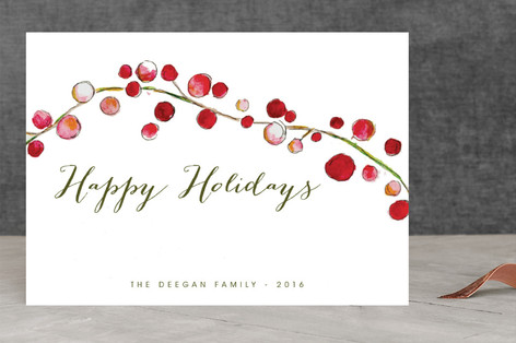 Holly Holidays Holiday Cards