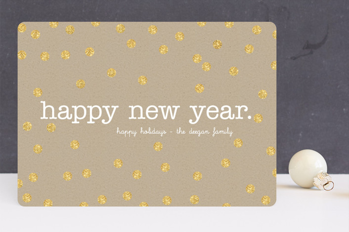 """Festive Craft"" - Minimalist, Modern Holiday Cards in Gold by Erin Deegan."