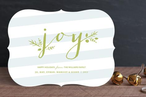 Greenery Joy Holiday Cards