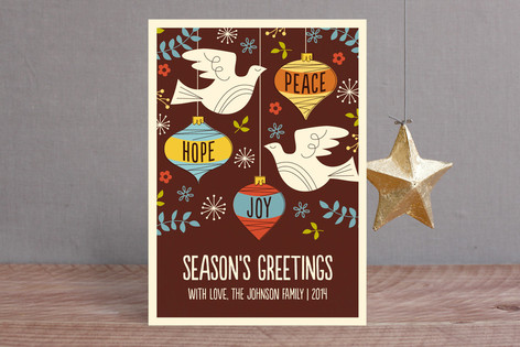 MidCentury Peace Dove Holiday Cards