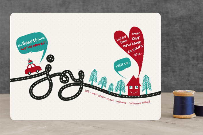 """""""Joyous Move"""" - Modern Holiday Cards in Festive by fatfatin."""