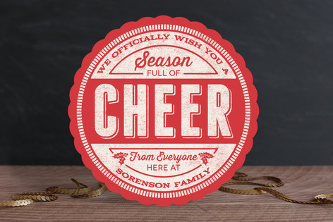 Cheer Stamp Holiday Cards