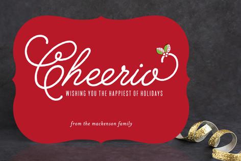 Cheerio Holiday Cards