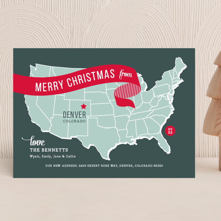 Holiday Map Holiday Cards By Jill Means Minted