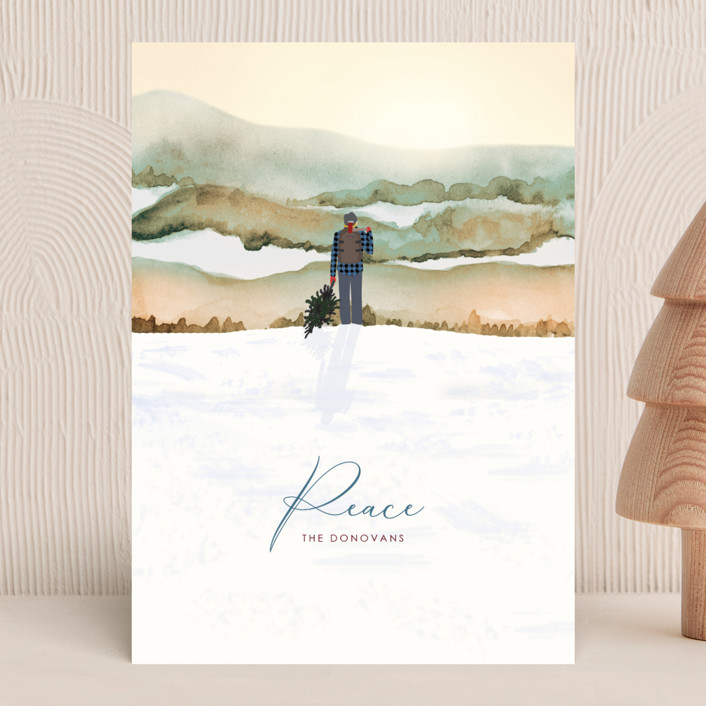"""""""Winter Vista"""" - Bohemian Holiday Cards in Dawn by Shannon."""