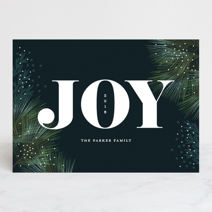 """""""Big Celebration"""" - Holiday Cards in Greenery by iamtanya."""
