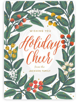 This is a orange non photo holiday card by Faiths Designs called Cheers to the Holidays with standard printing on signature in standard.