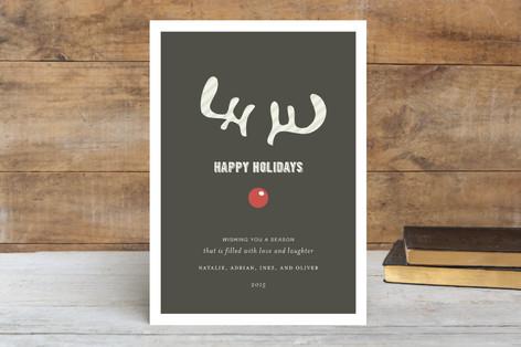 Joyeux Noel + Reindeer Holiday Cards