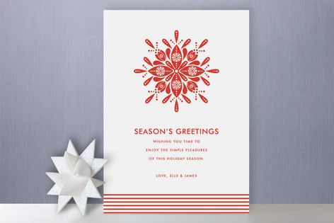 Nordic Snowflake Holiday Cards