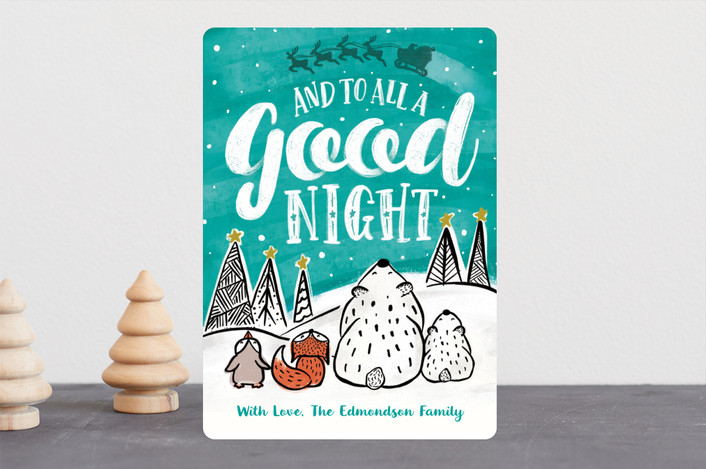 """""""To All a Good Night"""" - Holiday Cards in Wintergreen by Gina Grittner."""
