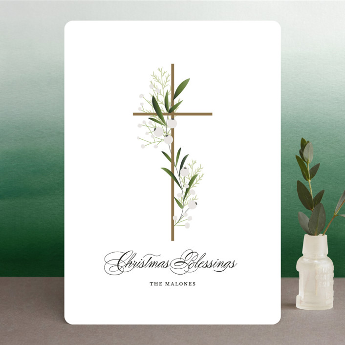 """""""Divine Grace"""" - Holiday Cards in Snowfall by Jennifer Postorino."""