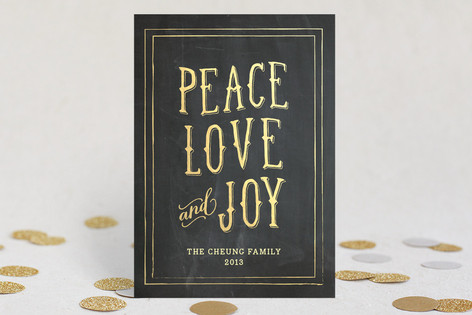 Gilded Things Holiday Cards