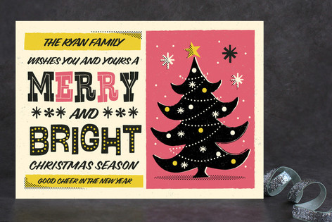 Retro Whimsical Poster Holiday Cards