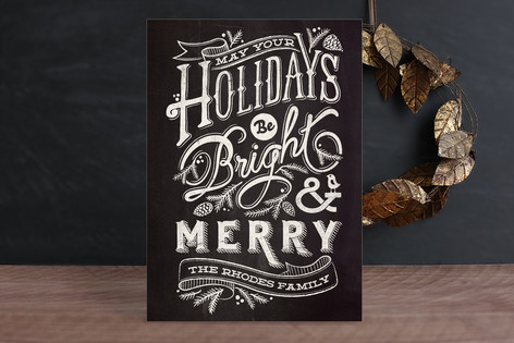 Bright and Chalky Holiday Cards