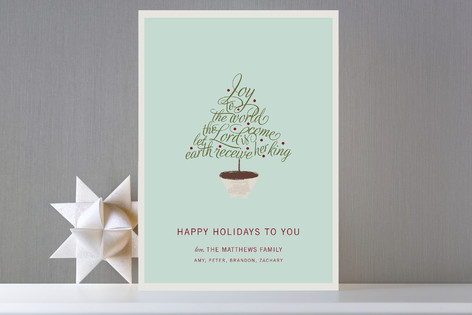 Joy to the World Holiday Cards