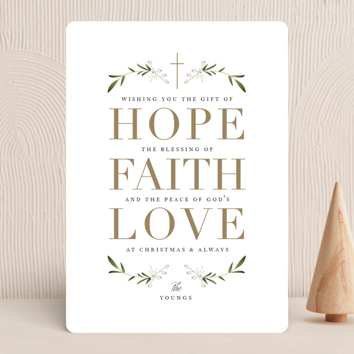 """The Gift of Hope"" - Holiday Cards in Gilded Gold by Jennifer Postorino."