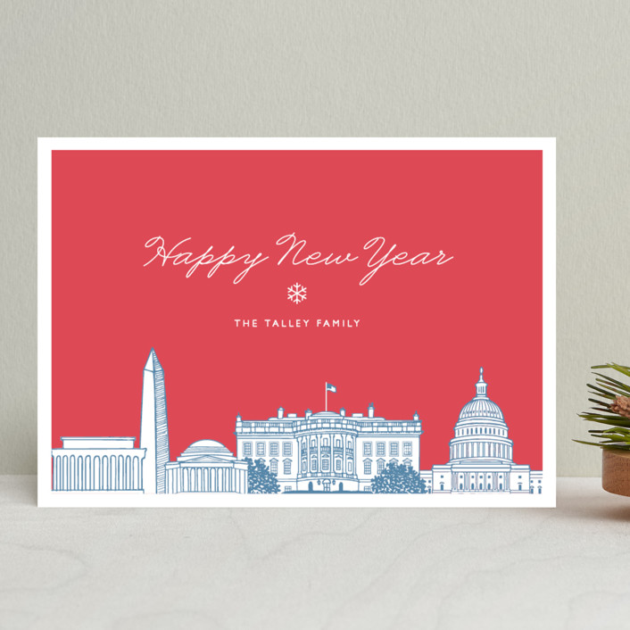 """Big City - Washington DC"" - Cities & States, Modern Holiday Cards in Patriot by Hooray Creative."