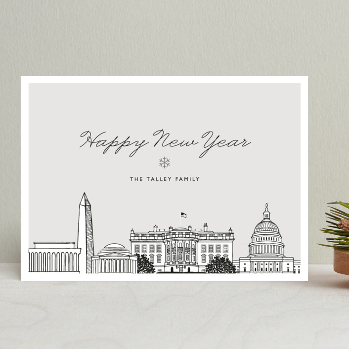 """Big City - Washington DC"" - Holiday Cards in Patriot by Hooray Creative."