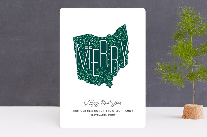 """festive map"" - Holiday Cards in Pine by Anupama."