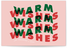 This is a colorful non photo holiday card by Catherine Culvenor called Warm Wave with standard printing on signature in standard.