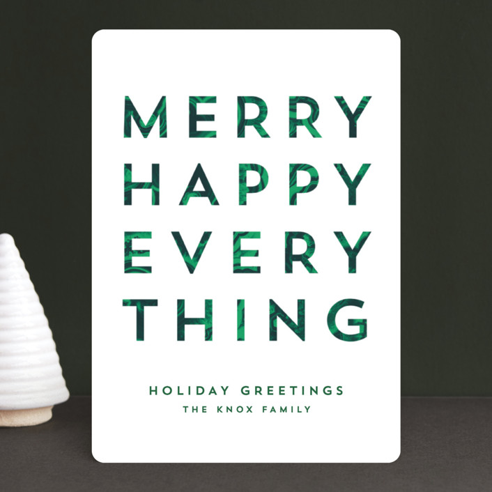 """""""All the Things"""" - Holiday Cards in Cypress by AK Graphics."""