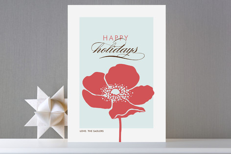 Frosted Poppy Holiday Cards