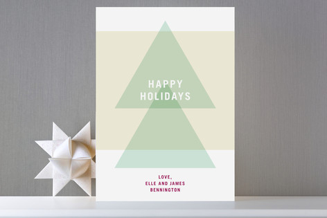 Modern Tree Holiday Cards