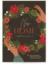 This is a brown non photo holiday card by Susan Zinader called Welcome Wreath with standard printing on signature in standard.