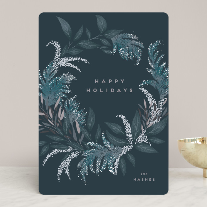 """""""Festive Greenery"""" - Holiday Cards in Freeze by Leah Bisch."""