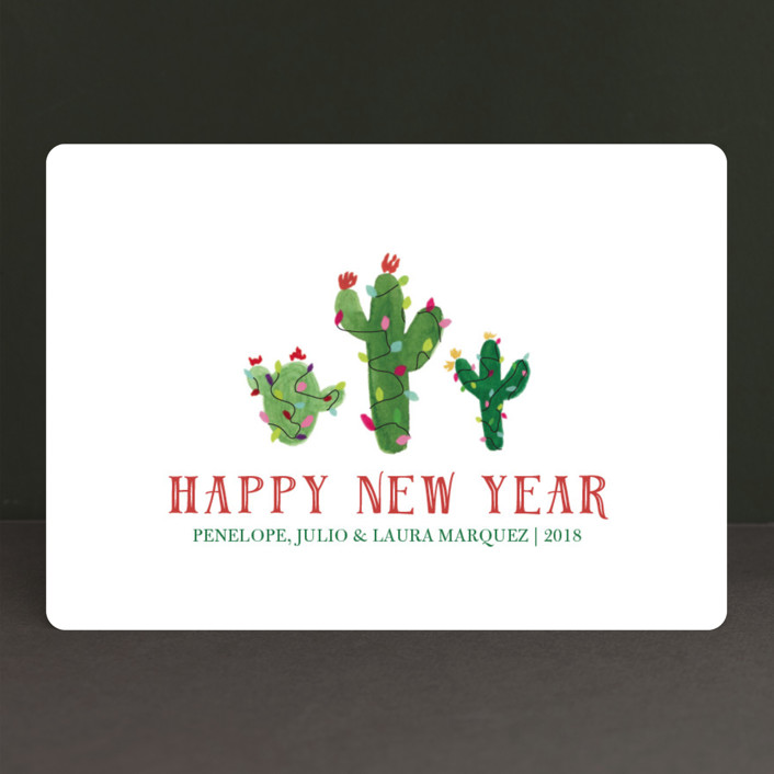"""Feliz Navidad Cactus"" - Holiday Cards in Snow by Erika Firm."