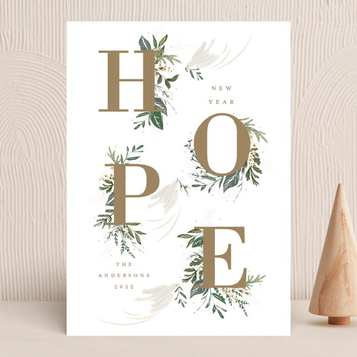 """Hope"" - Holiday Cards in Winter by Susan Moyal."