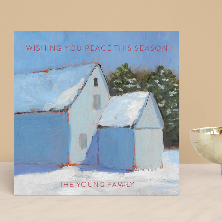 """Silent Snow"" - Holiday Cards in Holly by Carol C. Young."