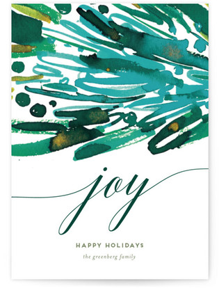 Joy Stack Holiday Non-Photo Cards